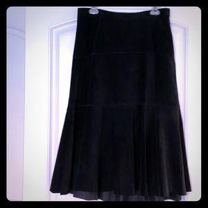CAbi - Black Suede midi skirt
